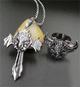 Final Fantasy Fenrir Ring and Necklace