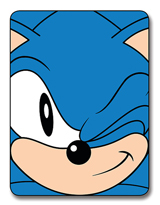 Sonic the Hedgehog Wink Fleece Blanket