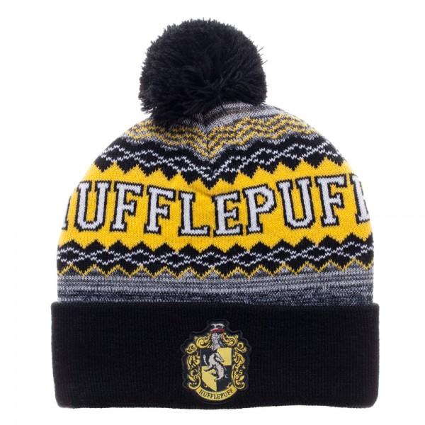 Harry Potter Hufflepuff Cuff Pom Beanie