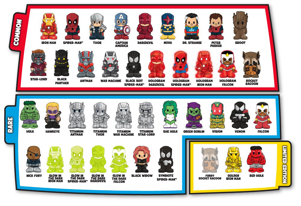 Marvel Ooshies Pencil Topper Figures Series 1