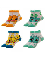 Pokemon Starters Youth Ankle Socks 4 Pack