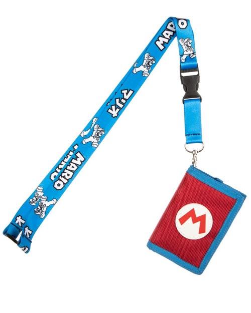 Super Mario Kanji Velcro Trifold Wallet & Lanyard
