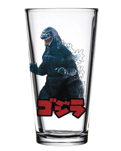 Godzilla Toon Tumblers Pint Glass