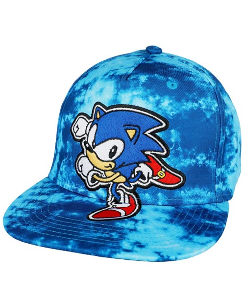 Sonic the Hedgehog Tie Dye Youth Pre-Curved Snapback Hat