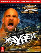 WCW Mayhem Official Strategy Guide Book (PS, N64)