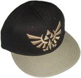 Legend of Zelda Gold Triforce Emblem Black Cap