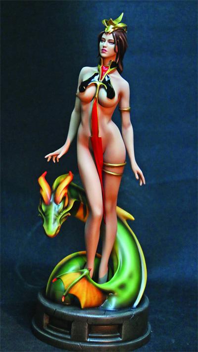 Fantasy Figure Gallery: Lady Dragon Statue