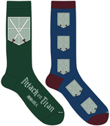 Attack on Titan: Cadet Corps Crew Socks 2 Pack