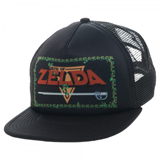Legend of Zelda Game Logo Black Trucker