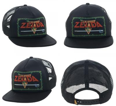 Nintendo Zelda Game Logo Black Trucker