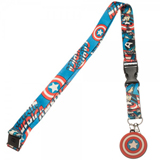 Marvel Captain America Comic Logo Lanyard with Charm