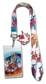 Digimon Fusion Fighters Lanyard with Charm