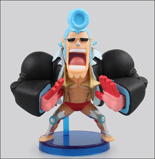 One Piece WCF Fight Franky 2 1/2 Inch Figure