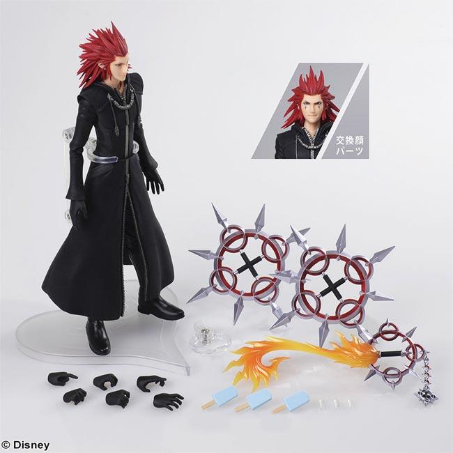 Kingdom Hearts 3 Bring Arts Axel AF all items