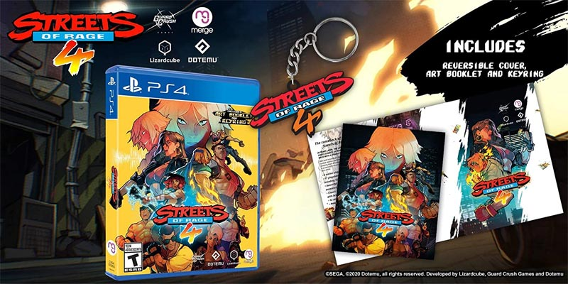PS4 Streets of Rage 4 bonus items