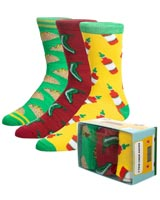 Taco-Themed Crew Socks 3 Pack