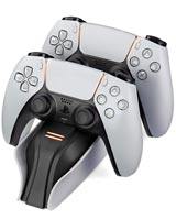 PlayStation 5 Twin Charge 5 Controller Charging Station White Snakebyte