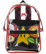 Super Mario Clear Backpack & Removable Pouch
