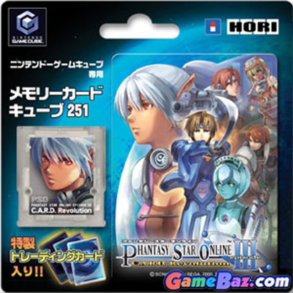 Gamecube Memory Card Phantasy Star Online III by Hori