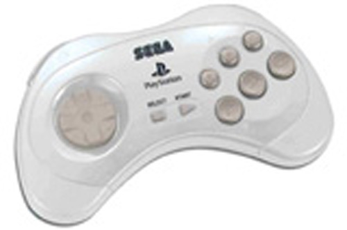PS2 Saturn Controller by Sega (Snow White)