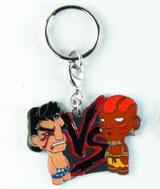 Street Fighter E. Honda vs Dhalsim Enamel Keychain