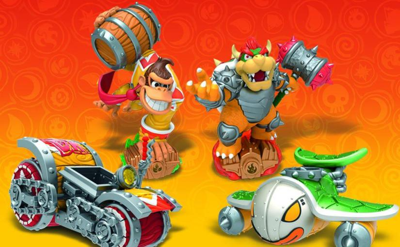 amiibo Skylander SuperChargers Turbo Charge Donkey Kong and Hammer Slam Bowser