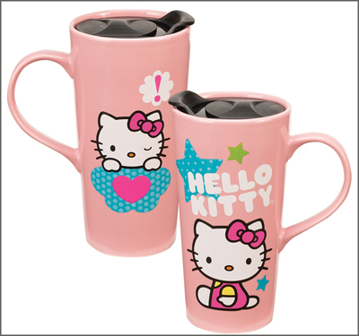 Hello Kitty Stars 20oz Ceramic Travel Mug