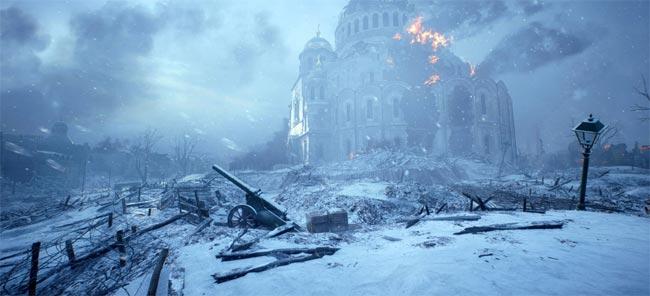 Burning-building-in-snow