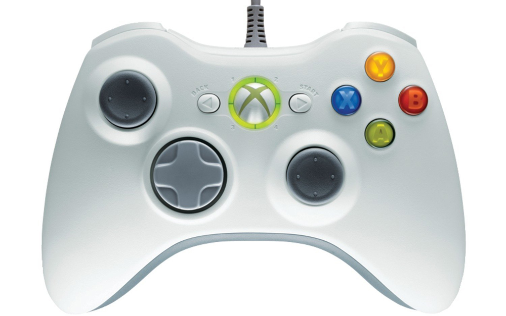Xbox 360 Wired Controller White by Microsoft