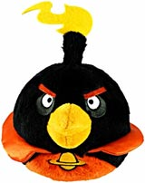 Angry Birds Space 8 Inch Black Bomb Bird Plush