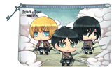 Attack on Titan Chibi Chara Cosmetic Bag