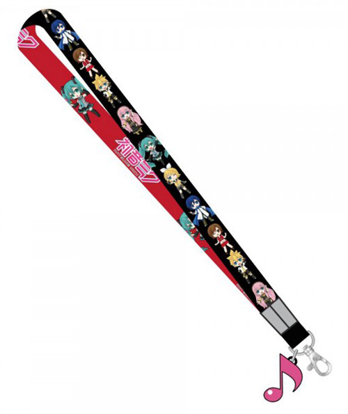 Hatsune Miku Lanyard with Music Note Charm