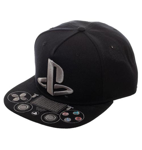 Sony Playstation Logo Snapback with Control Buttons