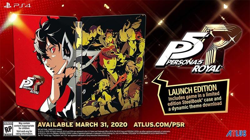 PlayStation 4 Persona 5 Royal Steelbook Launch Edition steelbook case
