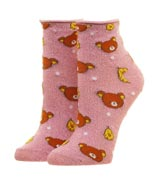 Rilakkuma Pink Ankle Socks