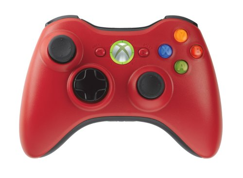 XBox 360 Limited Edition Red Wireless Controller & Play & Charge Kit
