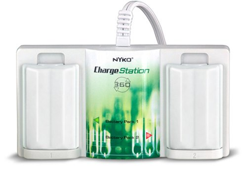 Xbox 360 Charge Station w/ 2 Free Batteries by Nyko (White)