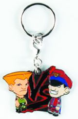 Street Fighter Guile vs M. Bison Enamel Keychain