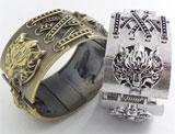 Final Fantasy VII: Cloud Symbol Fenrir Silver Cuff Bracelet