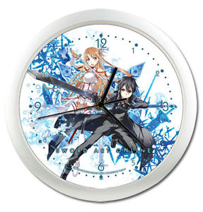Sword Art Online Asuna / Kirito Wall Clock