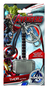 Avengers Age of Ultron Thor Hammer Pewter Keyring