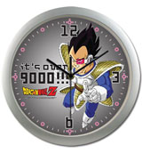 Dragon Ball Vegeta It's Over 9000!!! Wall Clock
