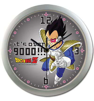 Dragon Ball Vegeta It's Over 9000!!! Clock