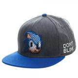 Sonic Sega Pixel Face Black Snapback
