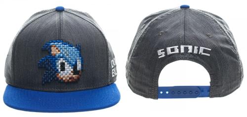 Sonic Sega Pixel Face Black Snpaback