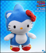 Sonic X Sanrio Sonic & Hello Kitty 10 inch Deluxe Plush
