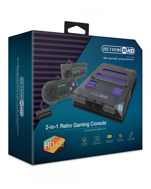 RetroN 2 HD 2-in-1 Retro Gaming Console Space Black