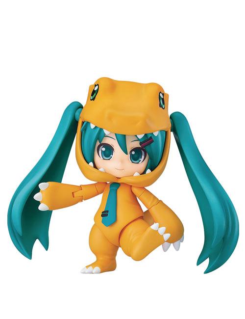Hatsune Miku Digimon Kigurumi Agumon Nendoroid
