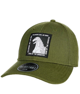 Godzilla King of Monsters Woven Patch Pre-Curved Snapback Hat