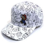 Nintendo Mario and Enemies Outline Cap